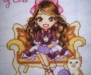 grille broderie doll
