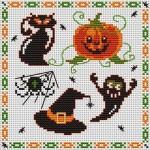 grille broderie halloween