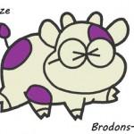 motif broderie machine vache