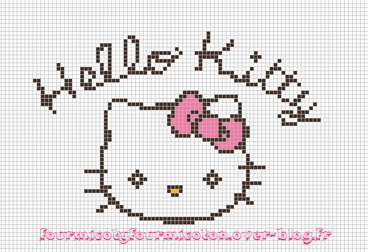 grille a broder hello kitty