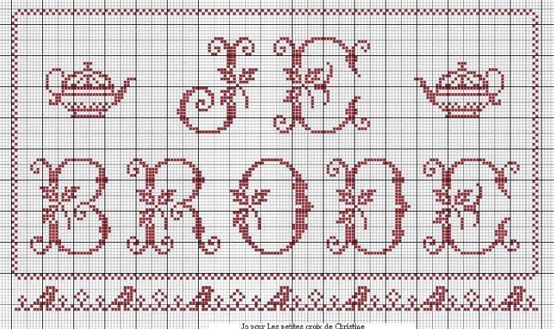 Grille broderie lettres - Grille point de croix pinterest ...