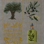 grille broderie olivier