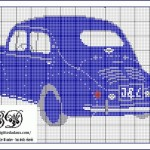 grille broderie voiture