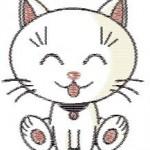 modèle broderie chat