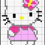 modèle broderie hello kitty gratuit