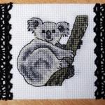 modèle broderie koala