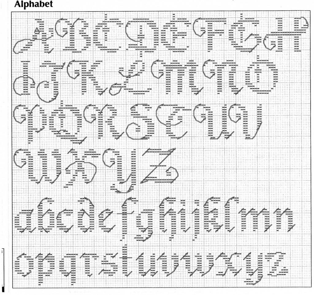 Grille broderie alphabet - Alphabet au point de croix grille gratuite ...