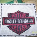 grille broderie harley davidson