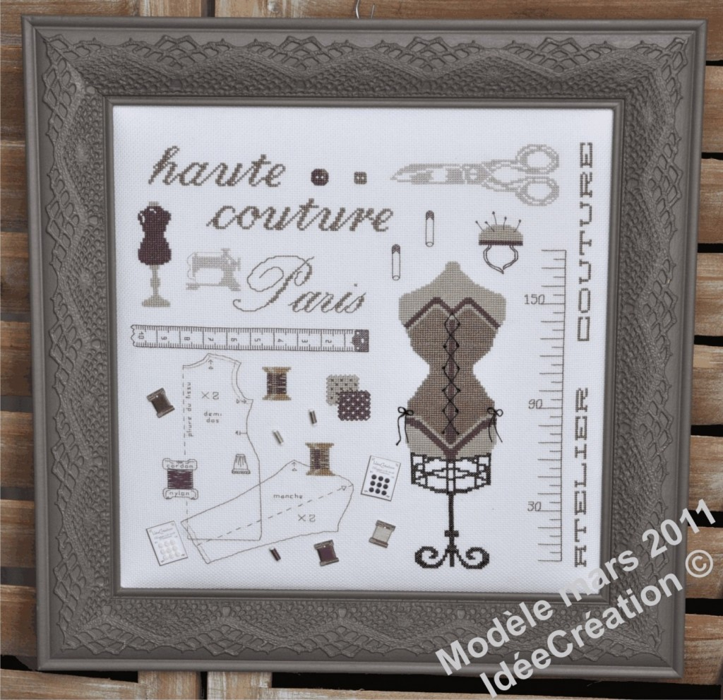grille broderie haute couture