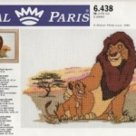 grille broderie roi lion