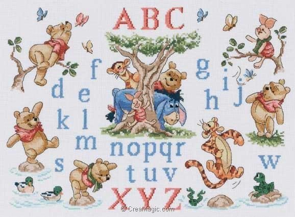 Mod le broderie disney 8 - Grille point de croix alphabet disney ...