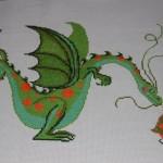 modèle broderie dragon