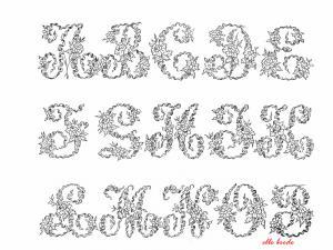 modèle broderie point de croix alphabet