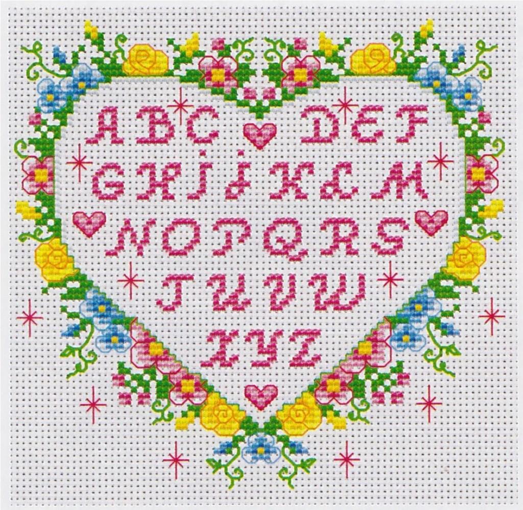 Mod le broderie point de croix alphabet - Grille point de croix lettre ...