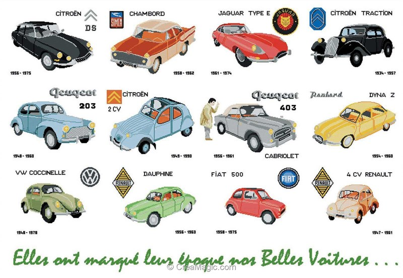 Mod 232 Le Broderie Voiture