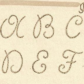 modèle lettre broderie traditionnelle