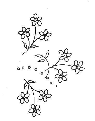 motif broderie fleur