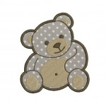 motif broderie ourson