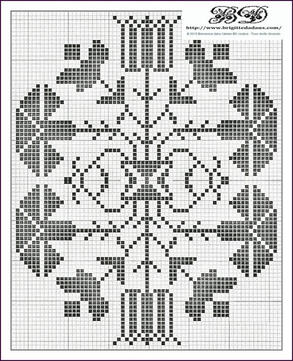 Grille broderie a imprimer - Broderie point de croix grilles gratuites fleurs ...