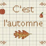 grille broderie automne