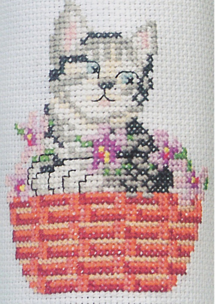 grille broderie chat