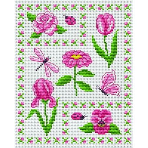 Grille broderie fleur - Broderie point de croix grilles gratuites fleurs ...