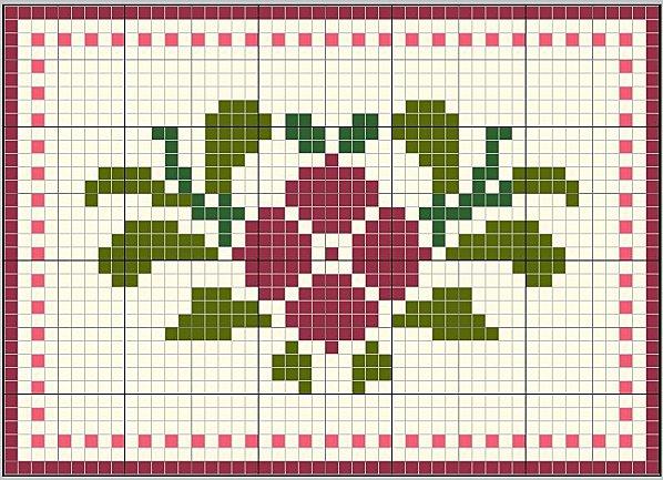 Grille broderie fleur 18 - Broderie point de croix grilles gratuites fleurs ...