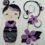 grille broderie kokeshi