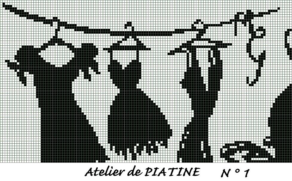 Grille gratuite lettres minnie - Broderie point de croix grilles gratuites ...