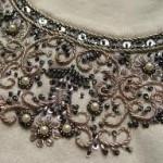 modèle broderie avec perles