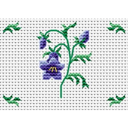 Mod le broderie fleur gratuit - Broderie point de croix grilles gratuites fleurs ...