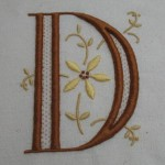 modèle broderie initiales