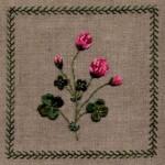 modèle broderie ruban de soie
