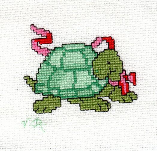 modèle broderie tortue