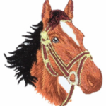 motif broderie cheval
