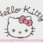 grille broderie hello kitty