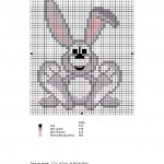 grille broderie lapin