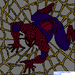 grille broderie spiderman