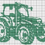 grille broderie un tracteur
