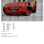 modèle broderie cars