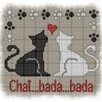 modèle broderie chat gratuit