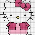modèle broderie hello kitty