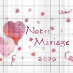 modèle broderie mariage