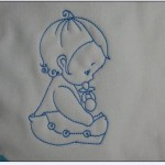 motif a broder pour bebe