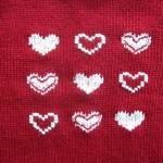 motif broderie sur tricot