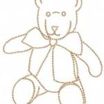 motif de broderie ours