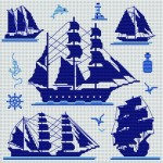 grille broderie bateau