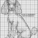 grille broderie chien