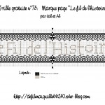 grille broderie marque page