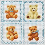 grille broderie ourson